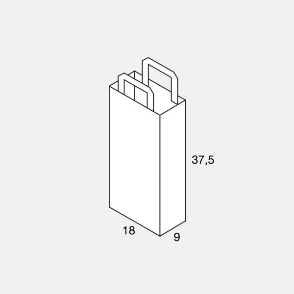 Flachhenkeltasche 18+9x37,5