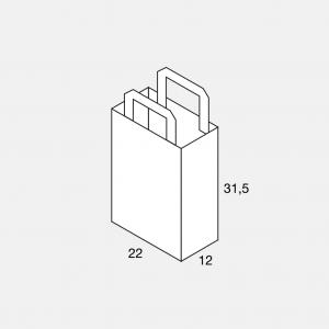 Flachhenkeltasche 22+12x31,5