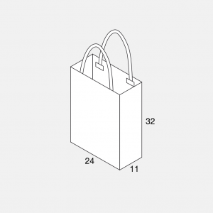 Papierkordeltasche 24+11x32