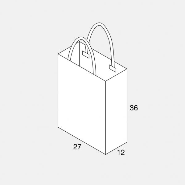 Papierkordeltasche 27+12x36