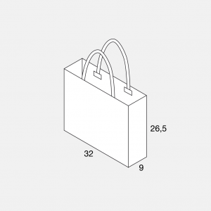 Papierkordeltasche 32+9x36,5
