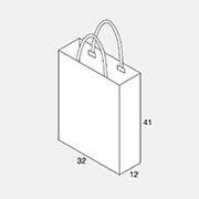 Papierkordeltasche 32+12x41