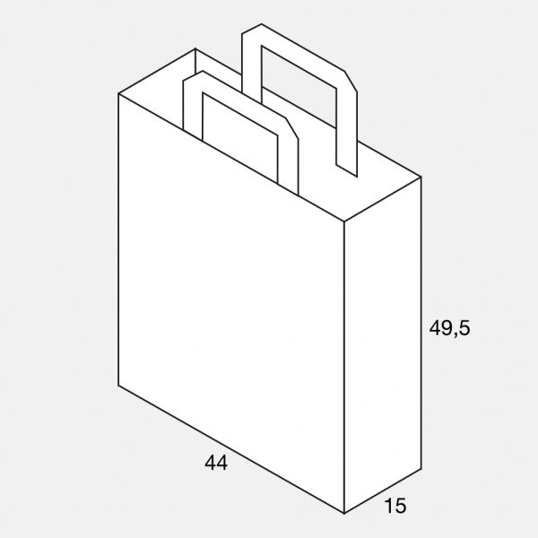 Flachhenkeltasche 44+15x49,5