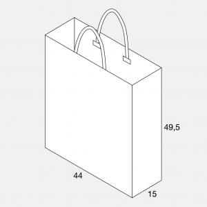 Papierkordeltasche 44+15x49,5