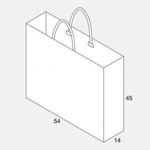 Papierkordeltasche 54+14x45