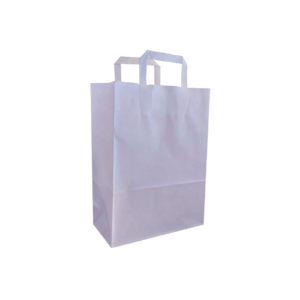 Weiße Flachhenkeltasche Maße 26+12x35
