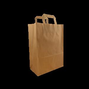 Braune Flachhenkeltasche Maße 26+12x35