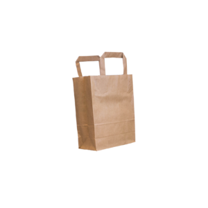 Flachenhenkel-Papiertasche-braun-18+8x22