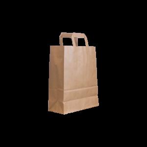 Flachhenkel papiertasche braun 22+10x28