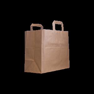 Flachhenkel-papiertasche-braun-32+17x27