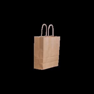 Papierkordeltasche-braun-18+8x22