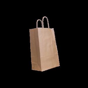 Papierkordeltasche-braun-22+10x31