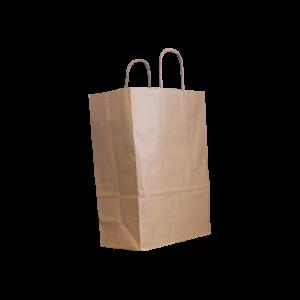 Papierkordeltasche-braun-26+12x35