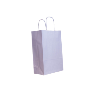 Papierkordeltasche weiß 22+10x31