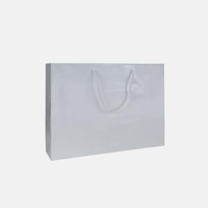 weiße Tasche mit Baumwollkordel