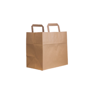 flachhenkel papiertasche braun 26+17x25