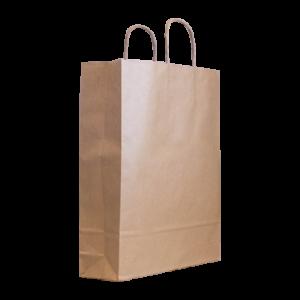Braune Papierkordeltasche Maße 32+12x41