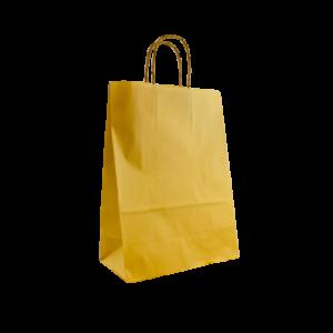 Goldene Papierkordeltasche Maße 26+12x35